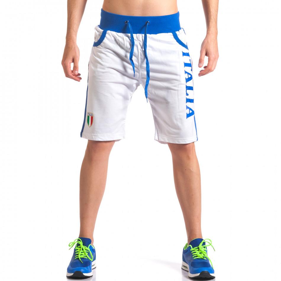 Pantaloni scurți bărbați Dress&GO albi it260416-17