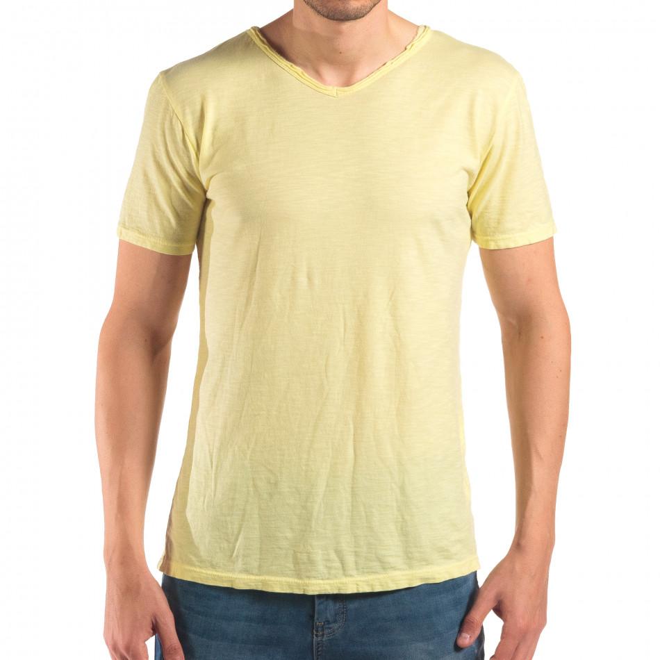 Tricou bărbați FM galben it150616-29