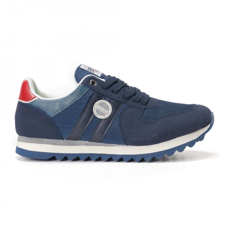 Adidași bărbați Montefiori albastre it250118-20