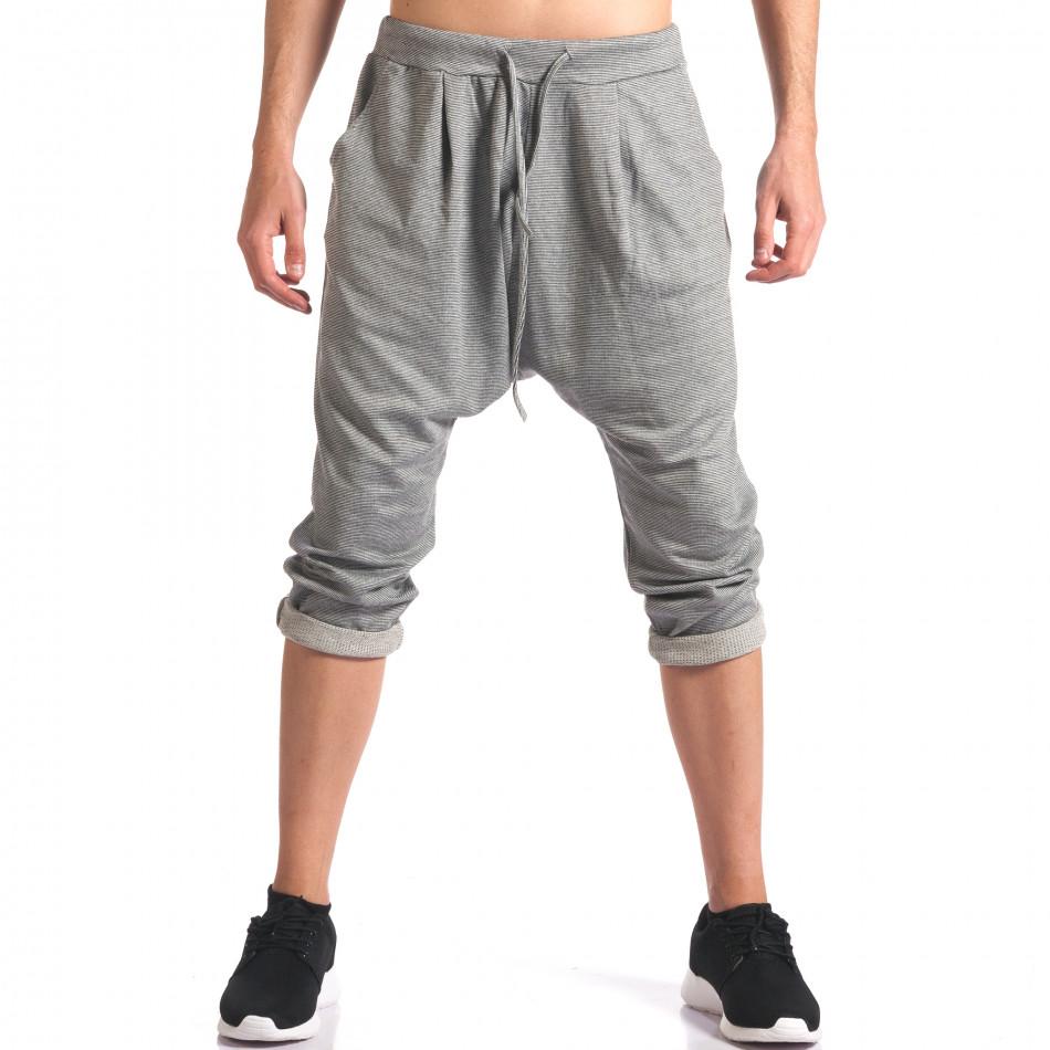 Pantaloni baggy bărbați FCSM gri it260416-37