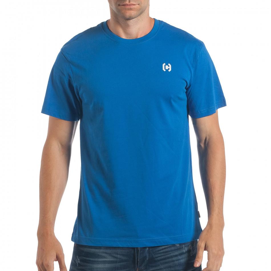 Tricou bărbați CROPP albastru lp180717-193