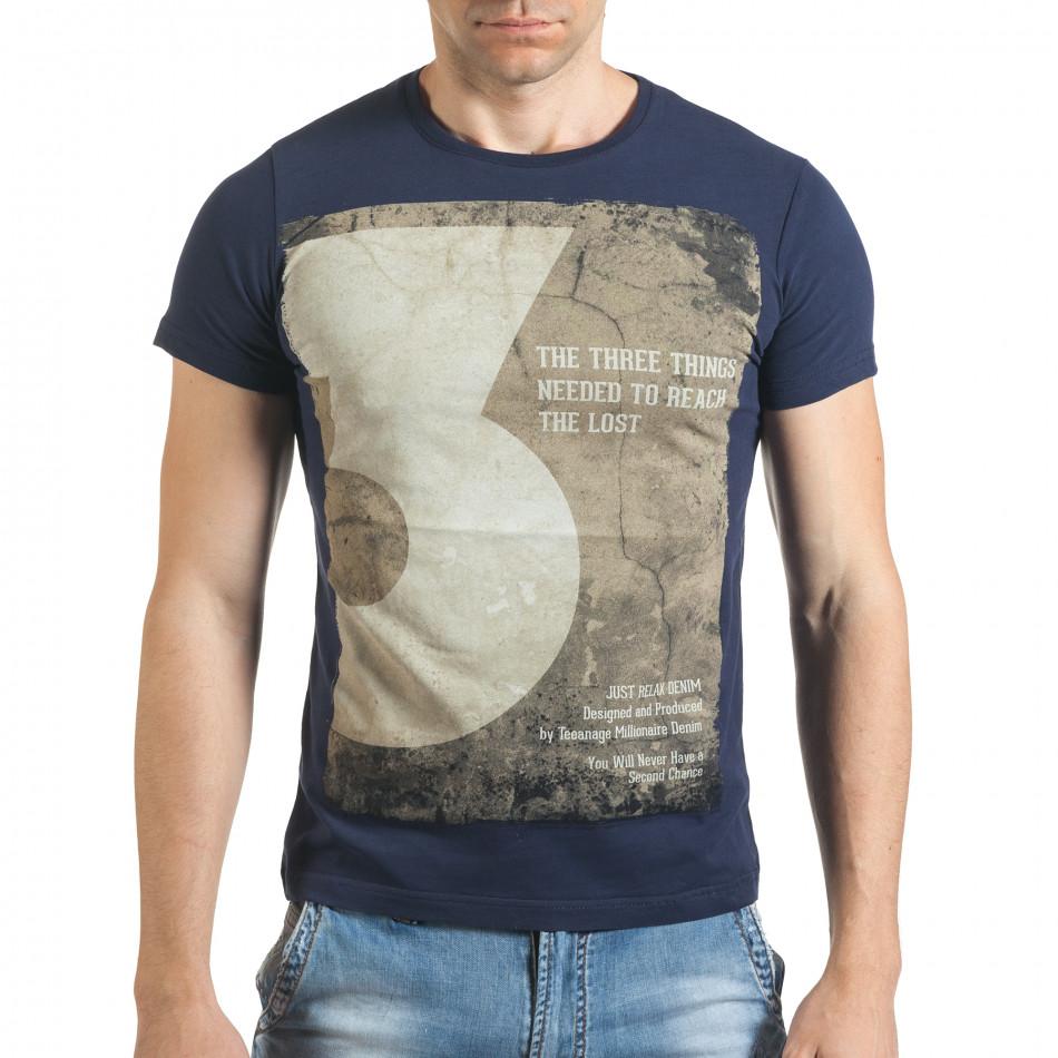 Tricou bărbați Just Relax albastru il140416-33