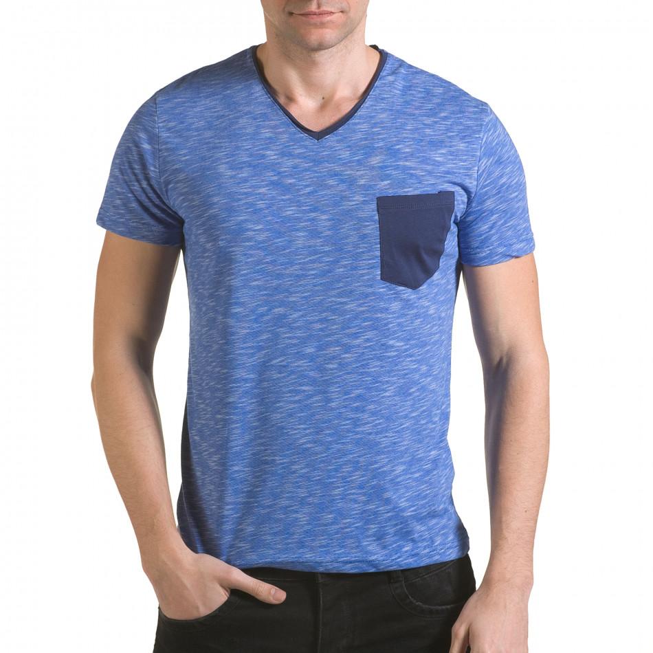 Tricou bărbați Franklin albastru il170216-14