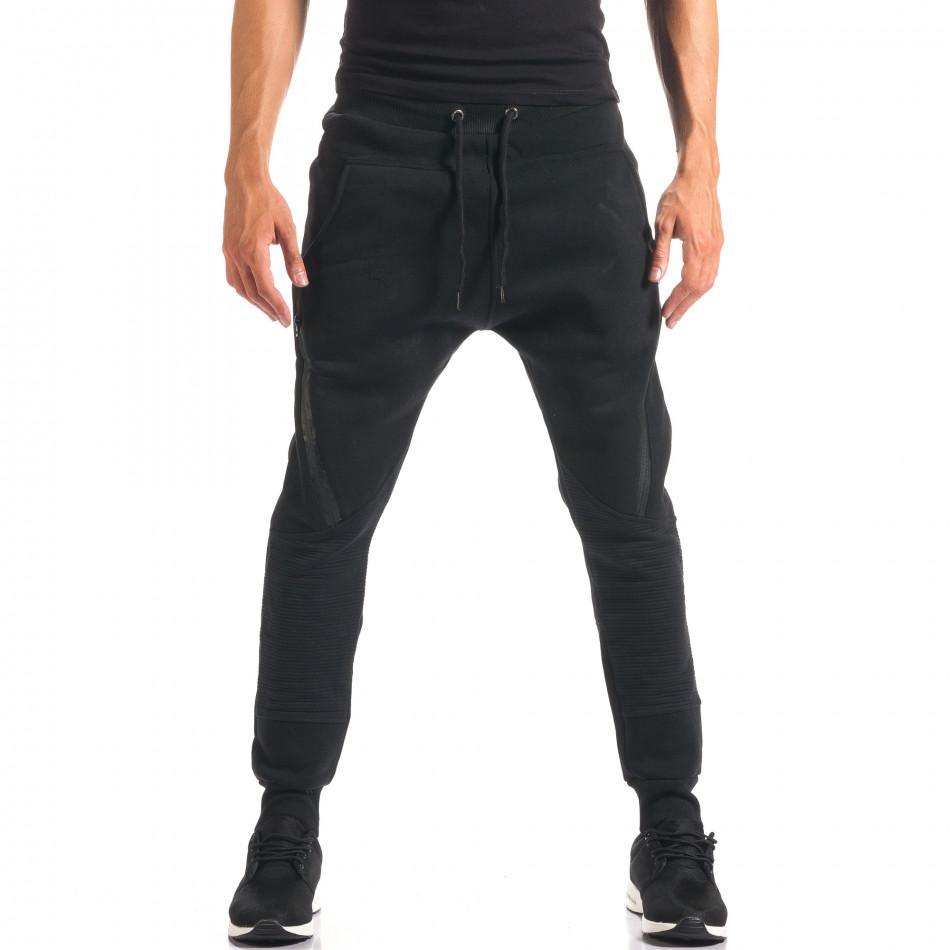 Pantaloni baggy bărbați Top Star negri it160816-1
