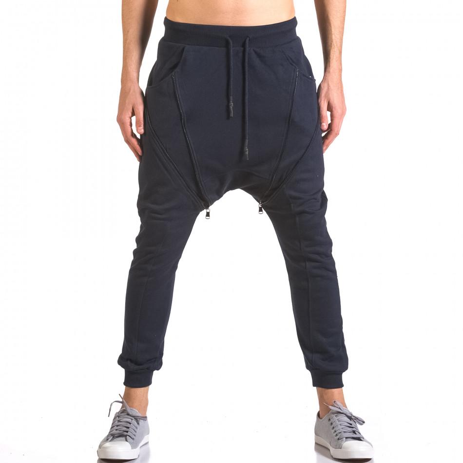 Pantaloni baggy bărbați Devil Slayer albaștri ca050416-50