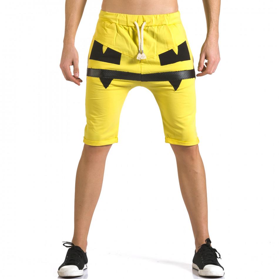 Pantaloni scurți bărbați ChRoy galbeni it110316-75