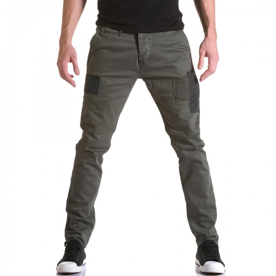 Pantaloni Y-Two verzi bărbați it031215-17