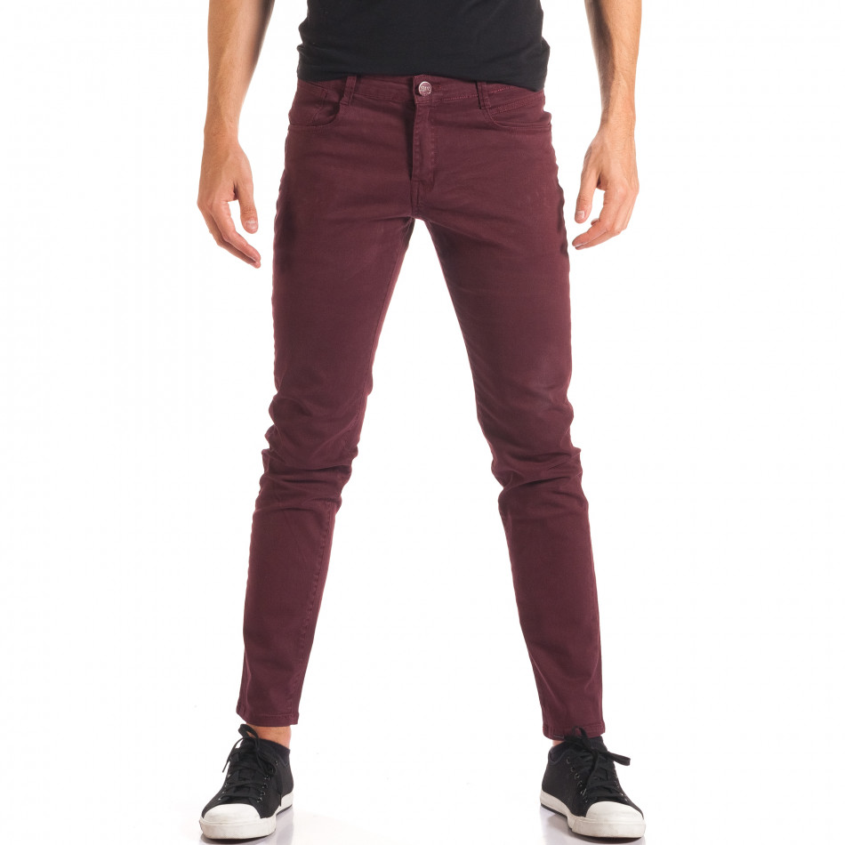 Pantaloni bărbați G-9 roșii it150816-4