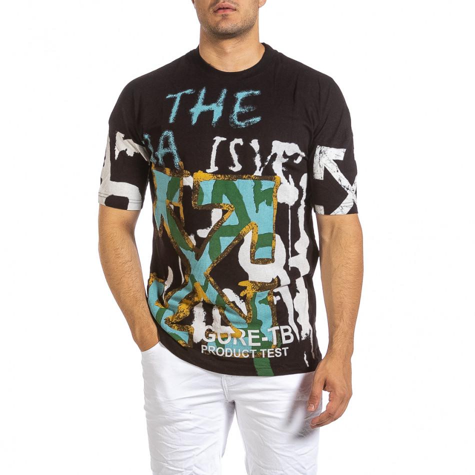 Tricou bărbați Maksim  negru it240621-14