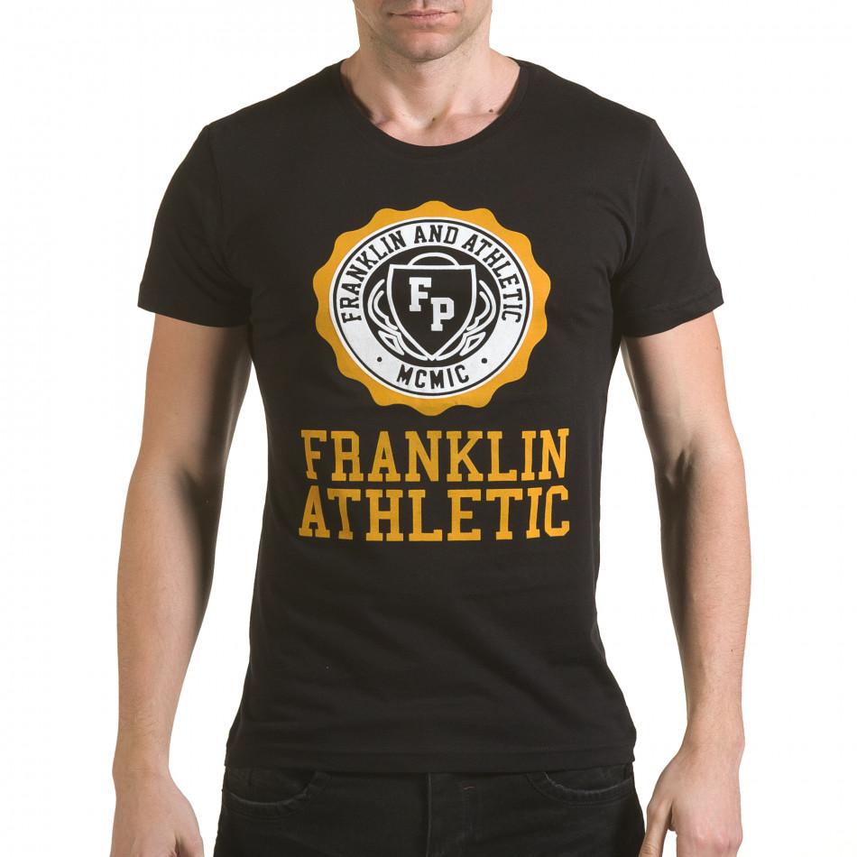 Tricou bărbați Franklin negru il170216-8