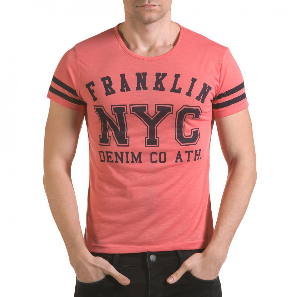 Tricou bărbați Franklin roz il170216-3