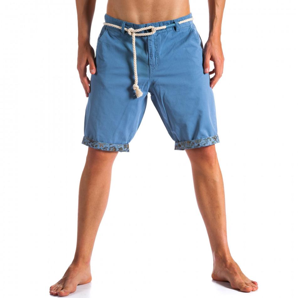 Pantaloni scurți bărbați Tony Moro albaștri ca090514-8