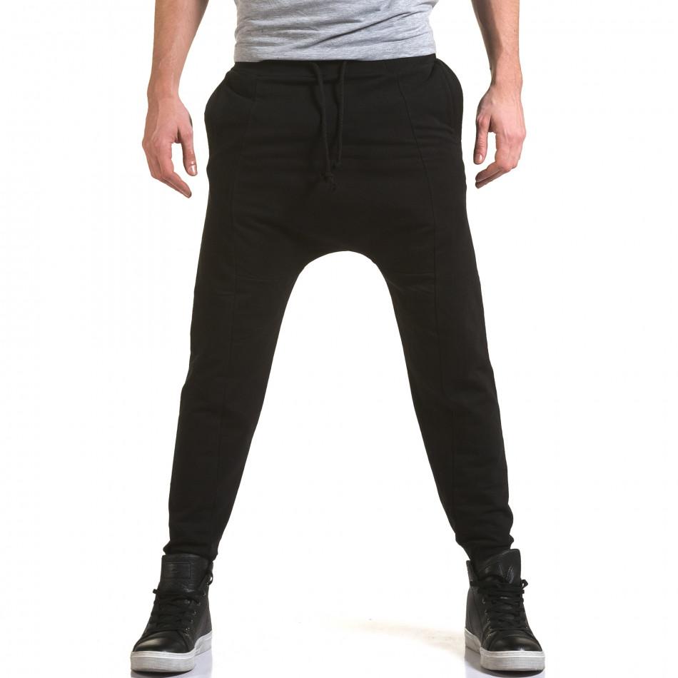 Pantaloni baggy bărbați FM negri it090216-62