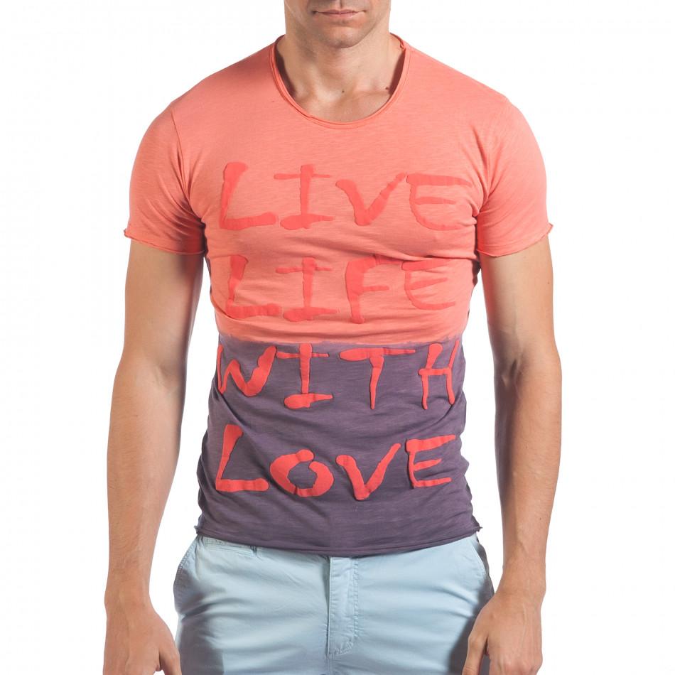 Tricou bărbați SAW roz il060616-34