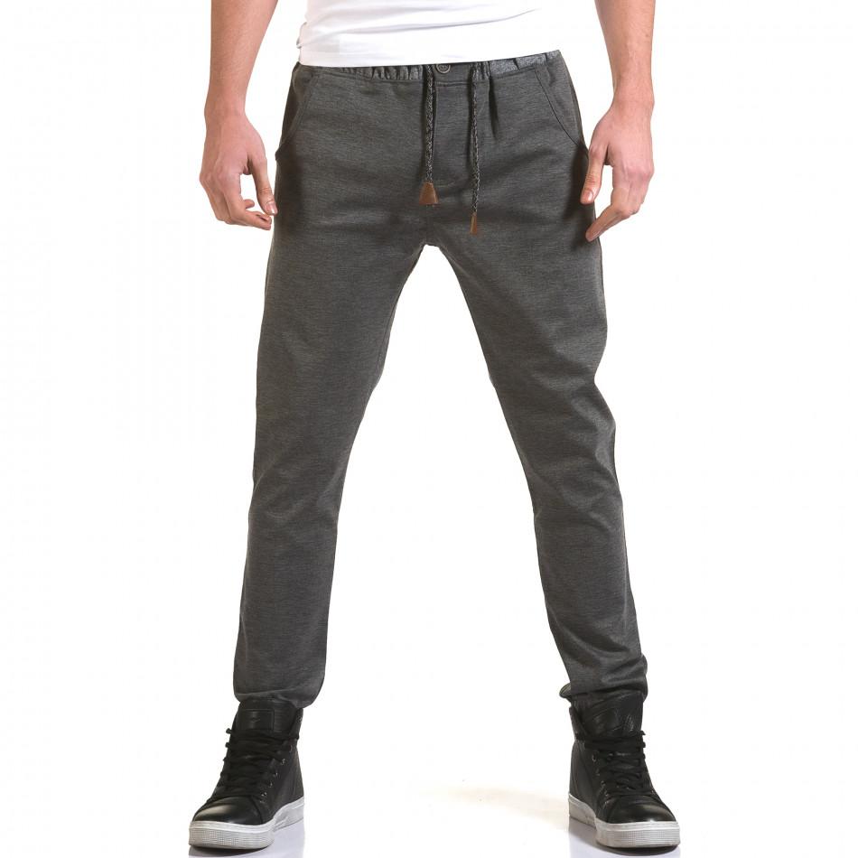 Pantaloni bărbați Jack Berry gri it090216-29