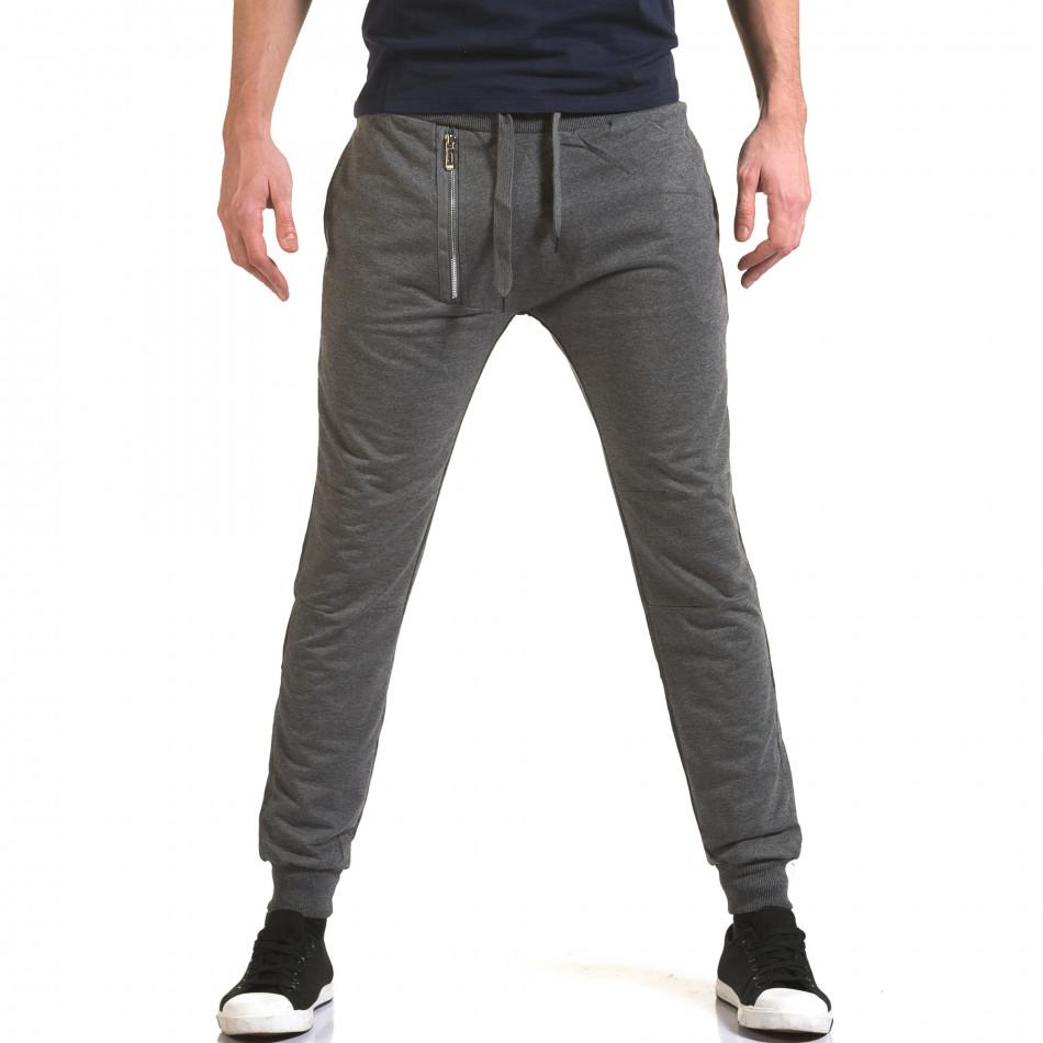 Pantaloni baggy bărbați Belmode gri it090216-43