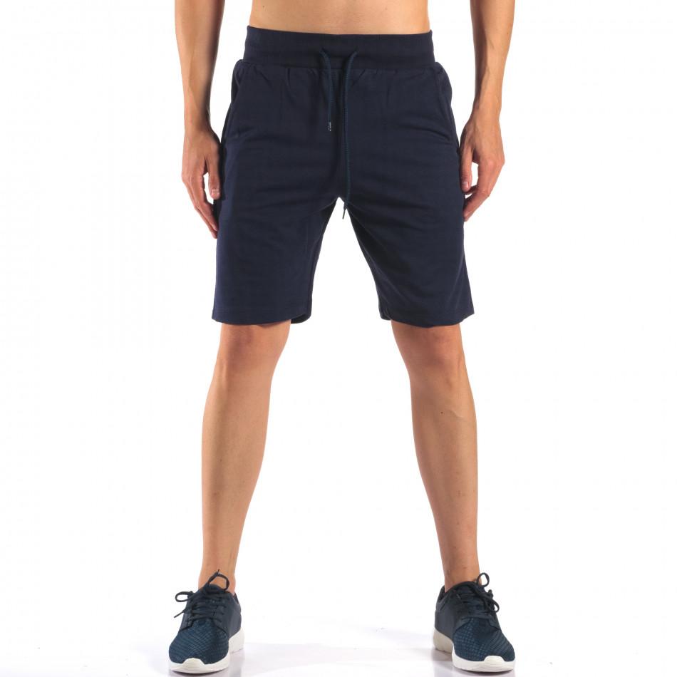 Pantaloni scurți bărbați Social Network albaștri it160616-9