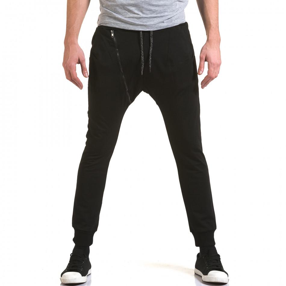 Pantaloni baggy bărbați Jack Berry negri it090216-48