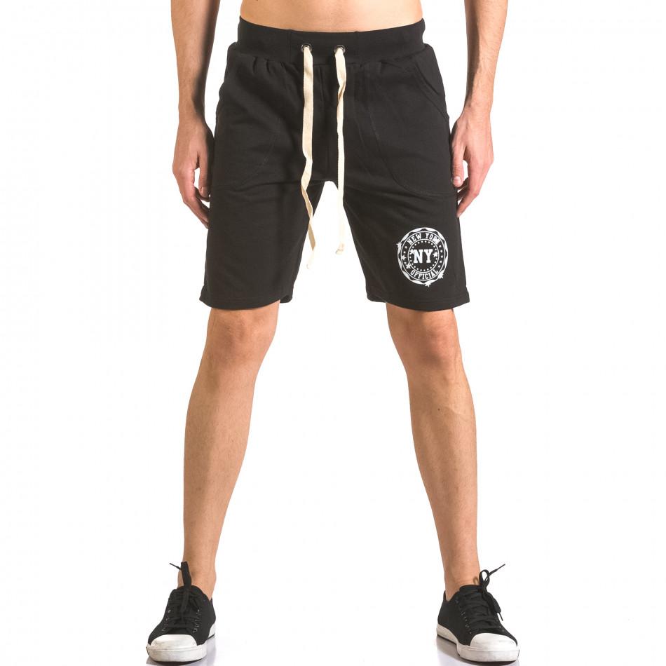 Pantaloni scurți bărbați Me & You negri ca050416-44