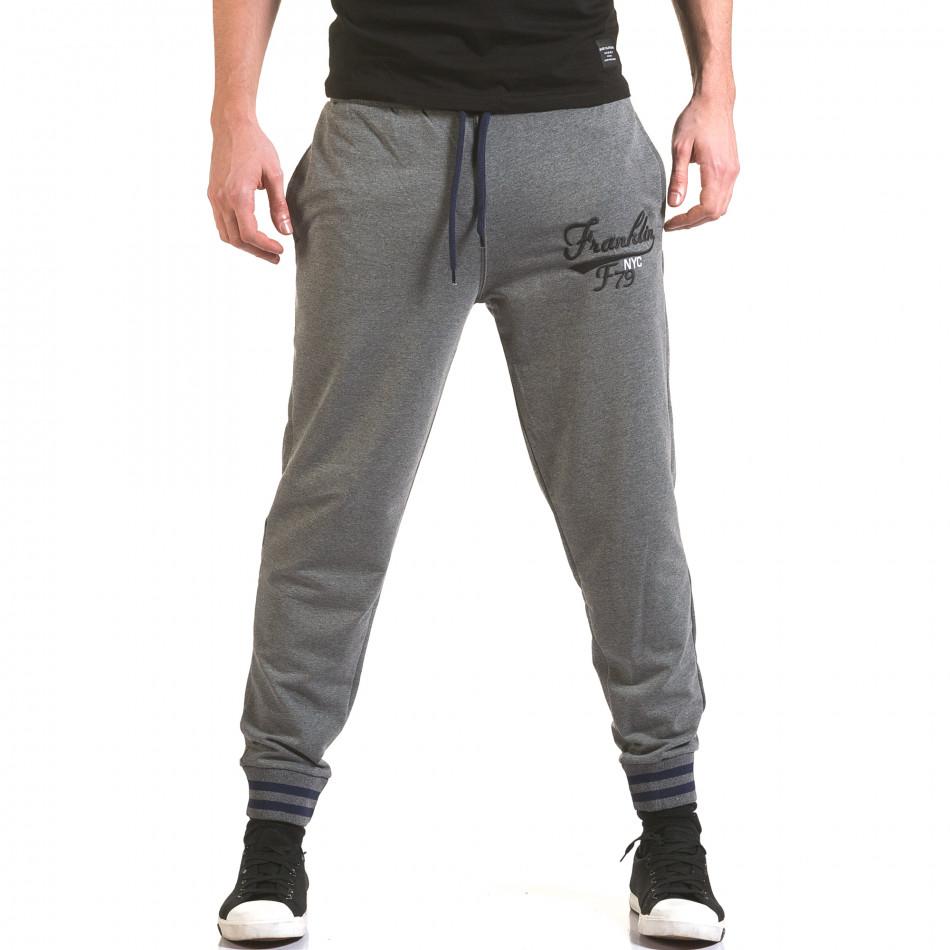 Pantaloni bărbați Franklin gri il170216-136