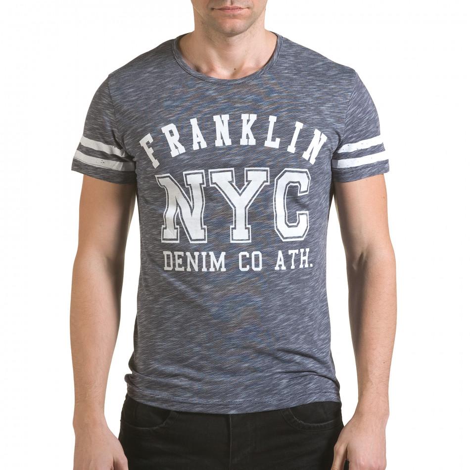 Tricou bărbați Franklin albastru il170216-5