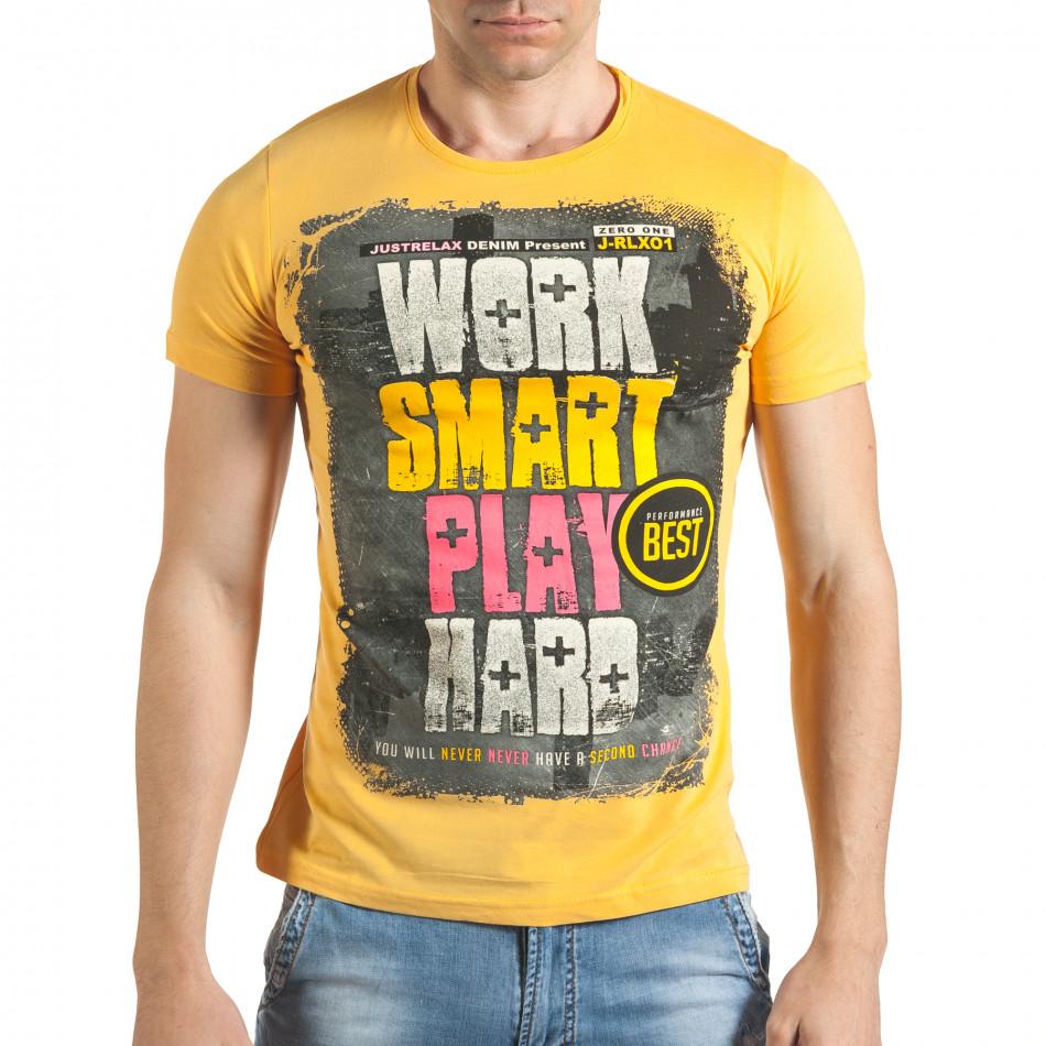 Tricou bărbați Just Relax galben il140416-37