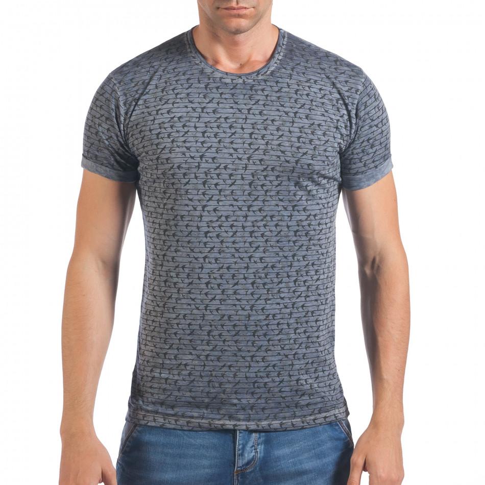 Tricou bărbați Lagos albastru il060616-43