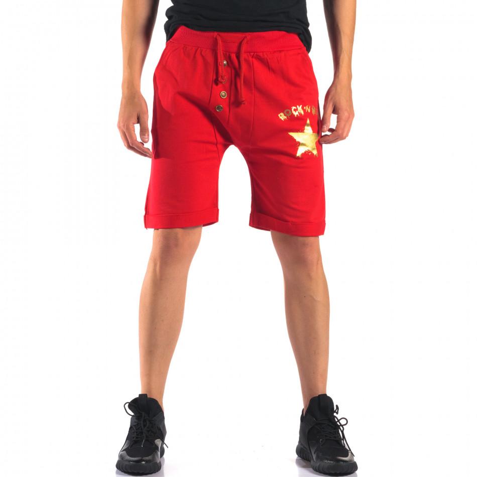 Pantaloni scurți bărbați Black Fox roșii it160616-14