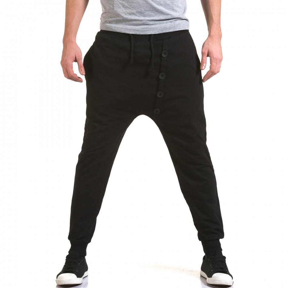 Pantaloni baggy bărbați G.Victory negri it090216-63