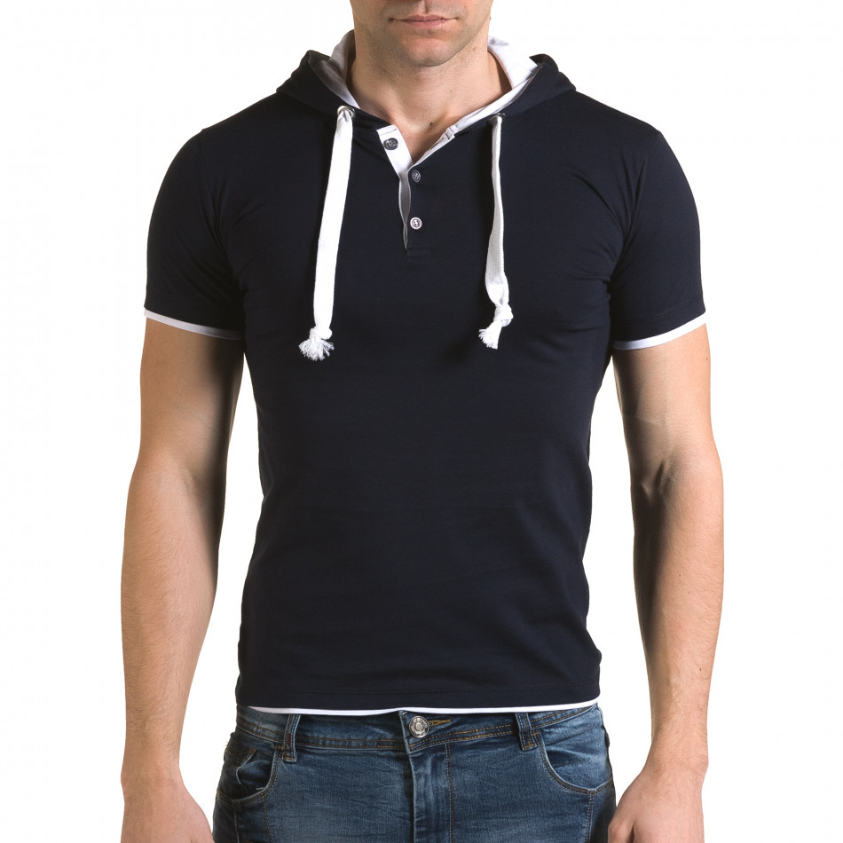 Tricou bărbați Lagos albastru il120216-59