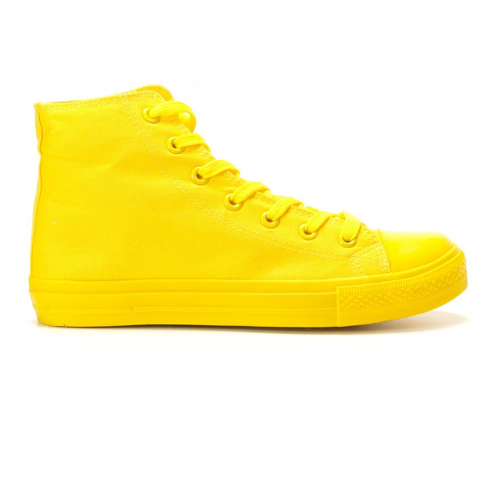 Teniși înalți galbeni pentru bărbați it260117-36