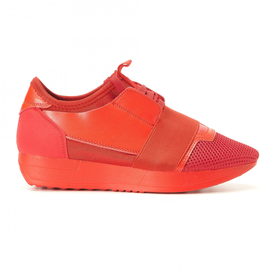 Pantofi sport de dama Anesia roșii it200917-51