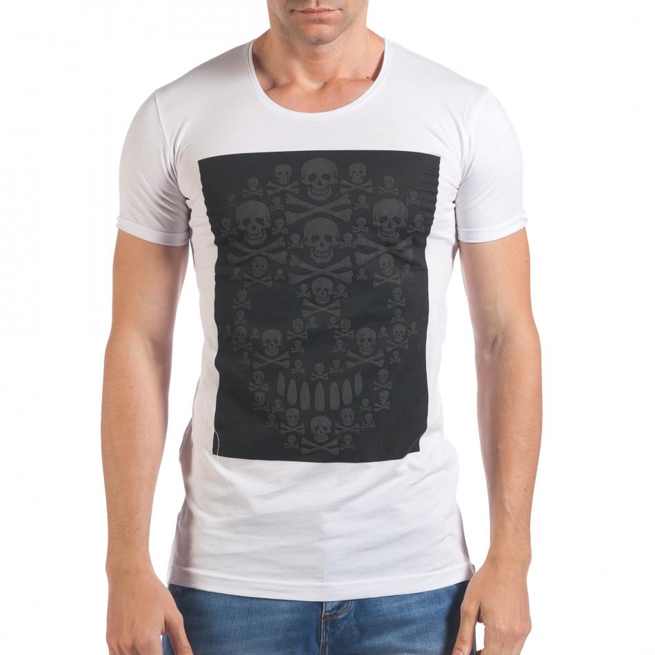 Tricou bărbați Eksi alb il060616-78