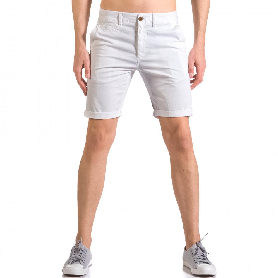 Pantaloni scurți bărbați XZX-Star albi ca050416-62