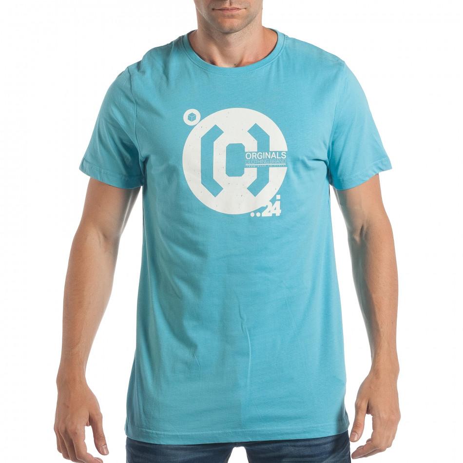 Tricou bărbați CROPP albastru lp180717-180