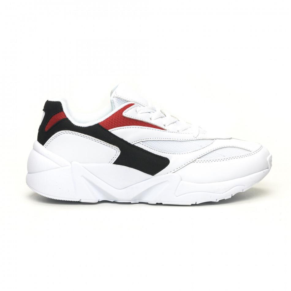 Adidași albi combinați pentru bărbați it051219-3