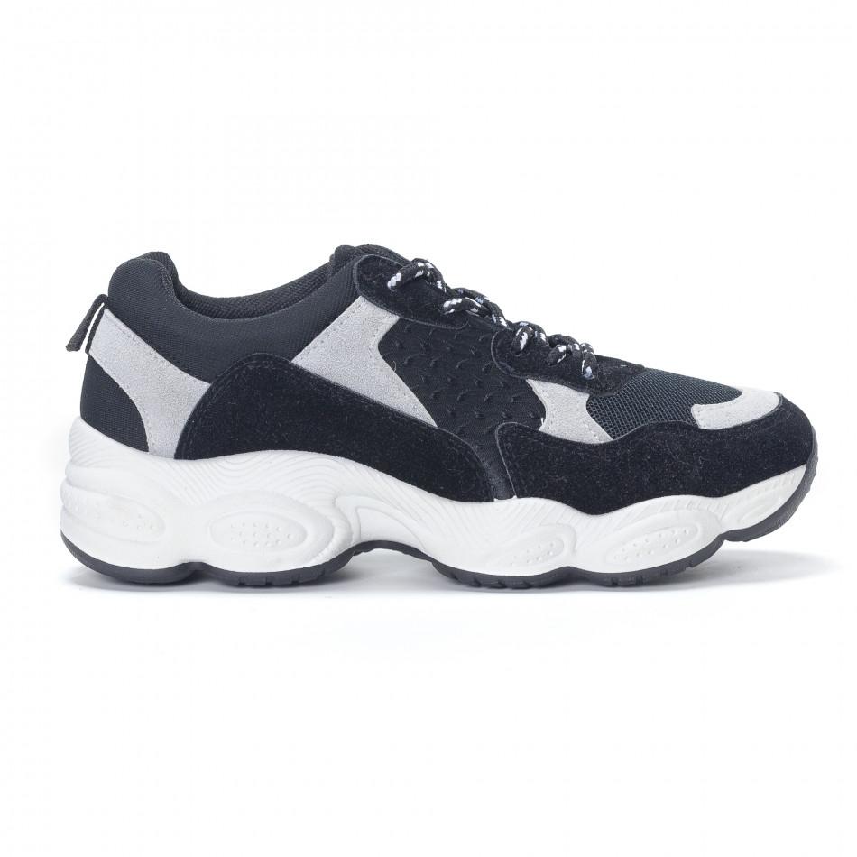 Pantofi sport de dama negre it230418-46