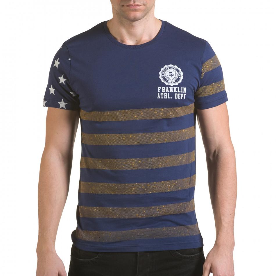 Tricou bărbați Franklin albastru il170216-10