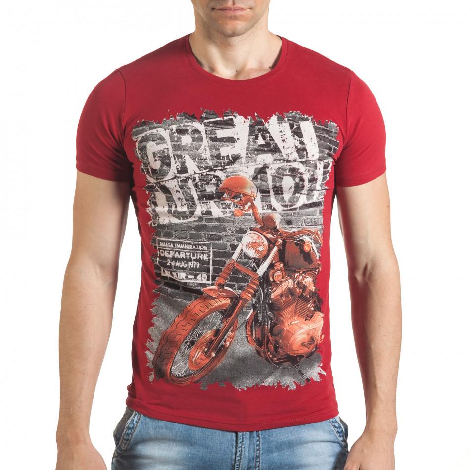 Tricou bărbați Just Relax roșu il140416-52