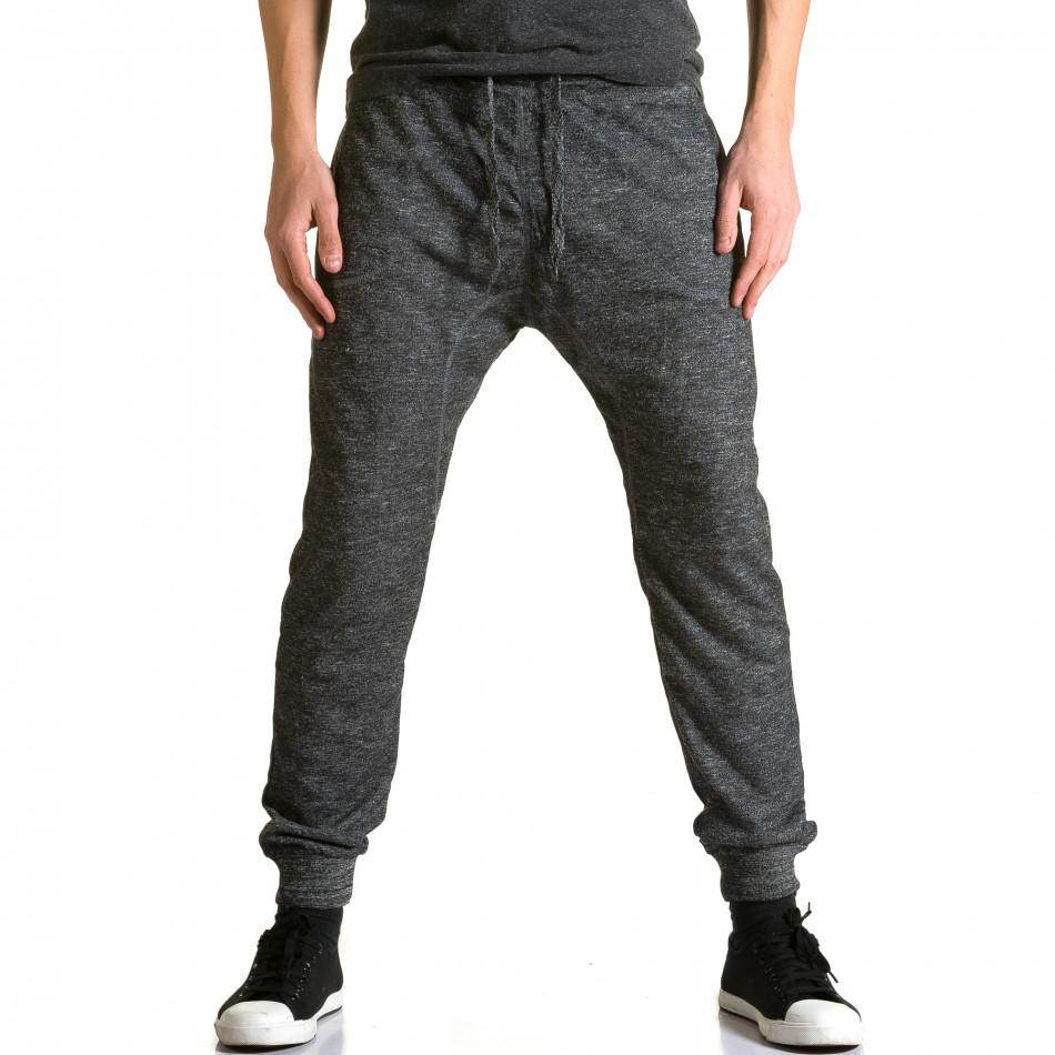 Pantaloni baggy bărbați Dress&GO gri ca190116-29