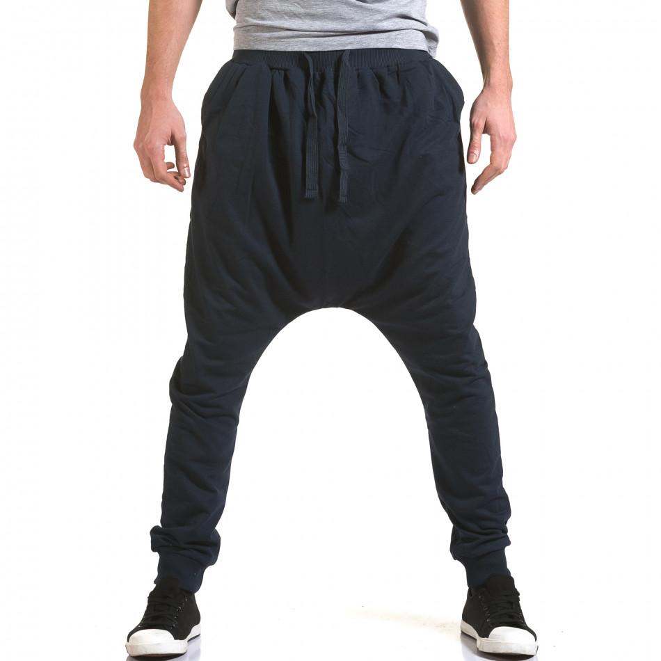 Pantaloni baggy bărbați Dress&GO albaștri it090216-33
