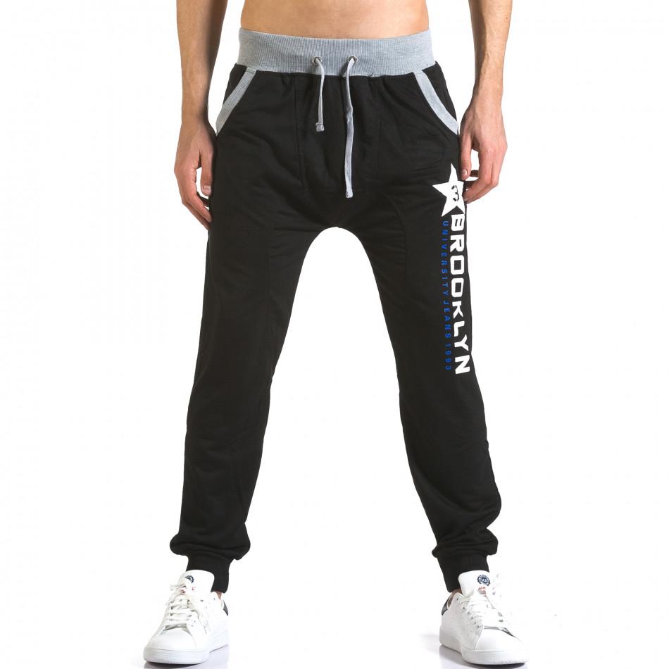 Pantaloni baggy bărbați Realman negri it110316-11