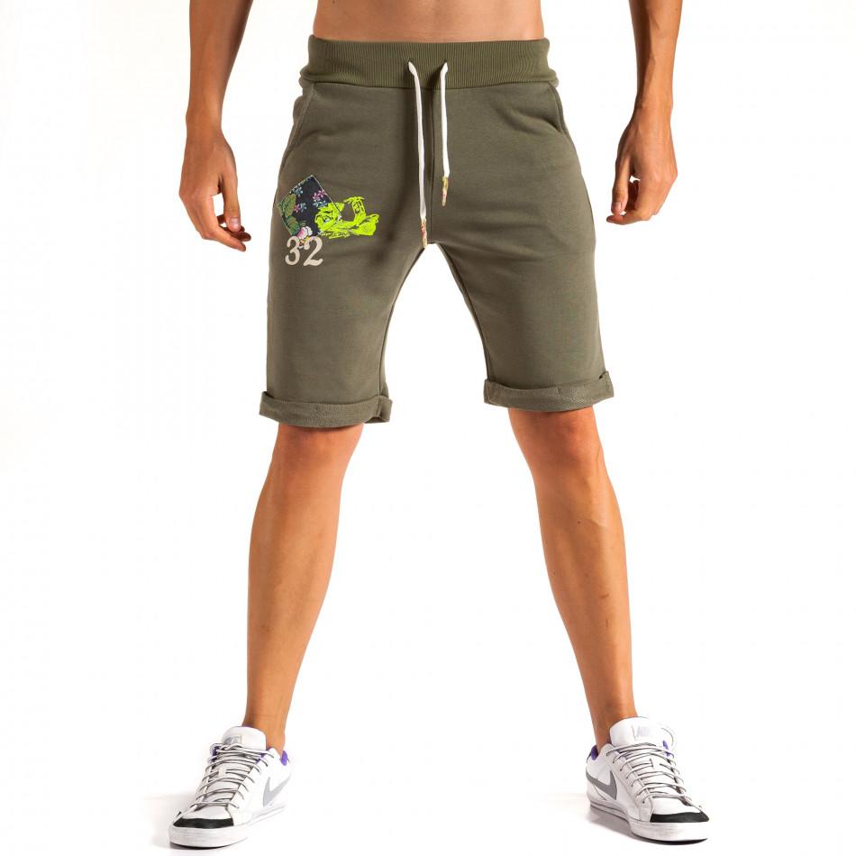 Pantaloni scurți bărbați Lure 2 verzi it200614-20