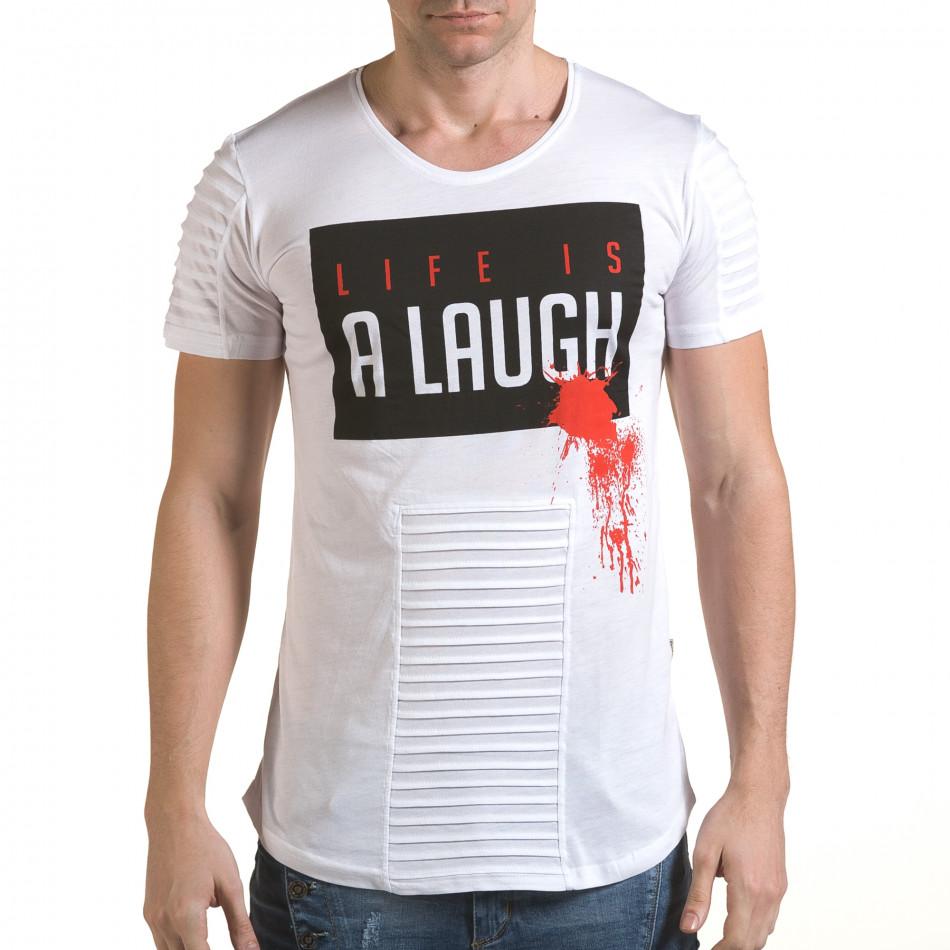 Tricou bărbați Click Bomb alb il170216-71