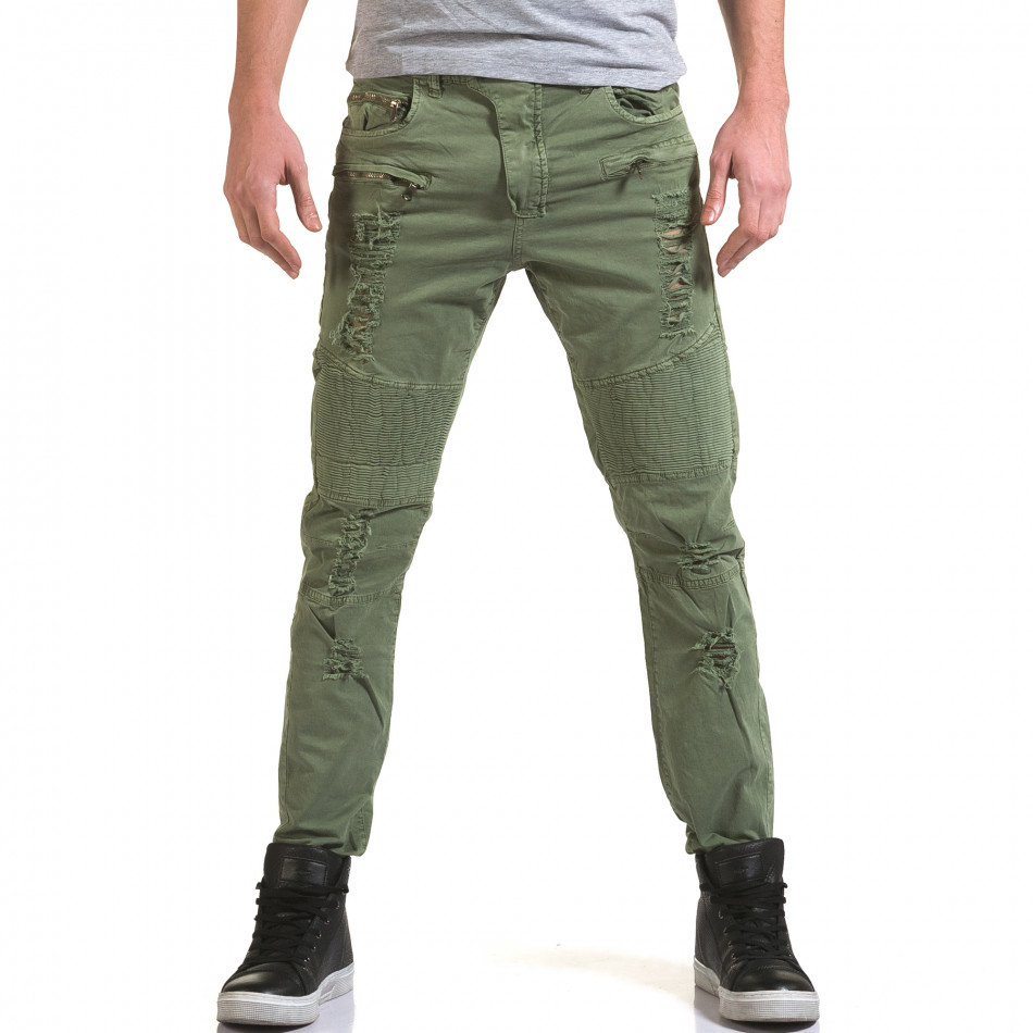Pantaloni bărbați Maximal verzi it090216-7