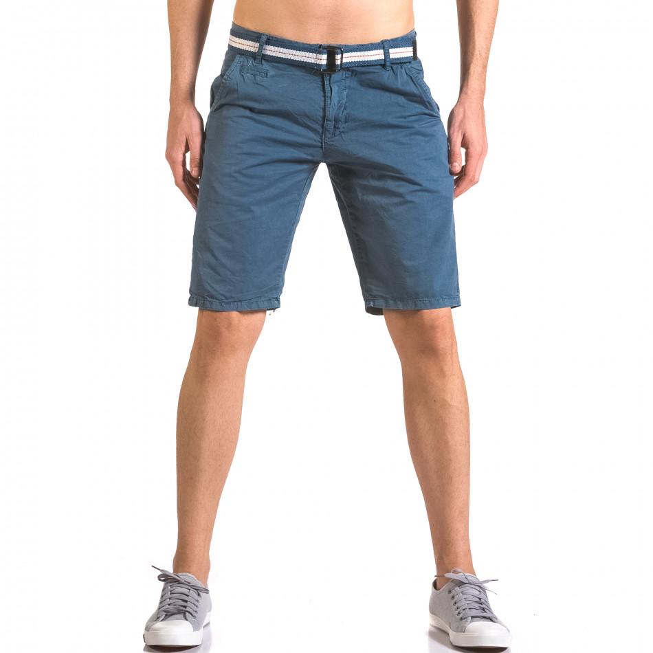 Pantaloni scurți bărbați Top Star albaștri ca050416-65