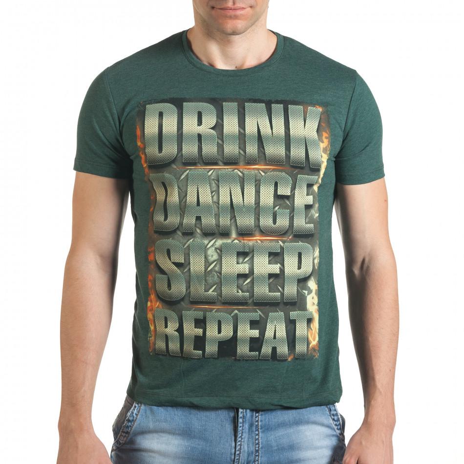 Tricou bărbați Just Relax verde il140416-46