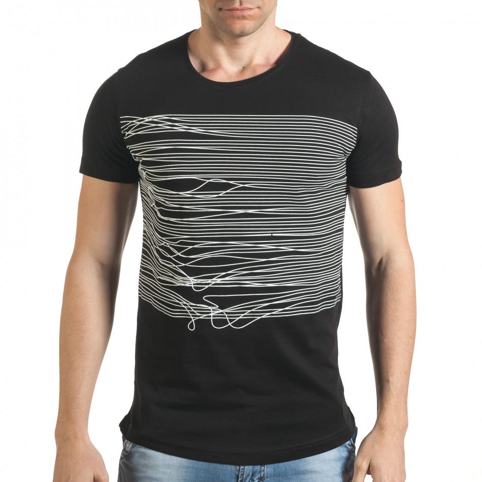 Tricou bărbați Eksi negru il140416-2