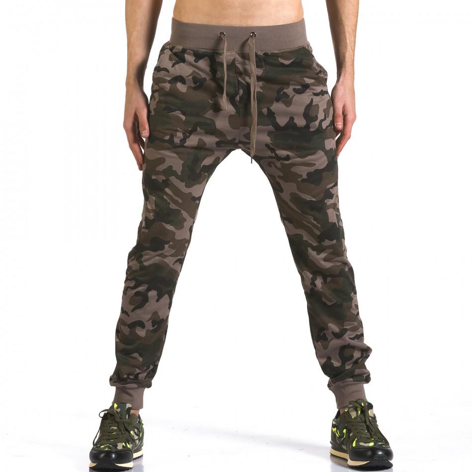 Pantaloni baggy bărbați Dress&GO camuflaj it110316-6