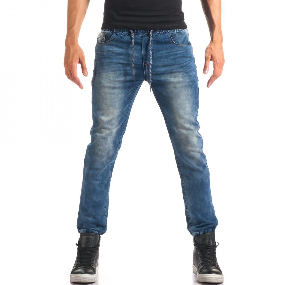 Blugi bărbați Leeyo Jeans albaștri it150816-24